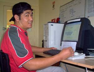 Viliamu at the Computer